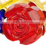 Our Wedding Favors Crystal Red Rose Small Return Gifts