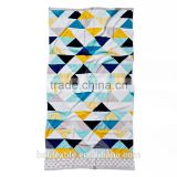 China manufacture factory price colourful triangle 100% cotton printed beach towel with custom design