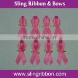Wholesale Pink Breast Awareness Ribbon for Cancer with Safe Pin