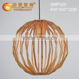 Wood Caged Chandeliers Handmade,Modern decorative wood pendant light,Creative wood pendant lamp