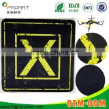 Floor Tiles Tile Type and Blacks,Grays,Yellows/Golds Color Family Helicopter Landing Pad