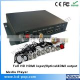 Metal shell digital signage box Optical 5.1 output memory card player mp4 digital media player advertising media