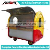 China prime quality Mobile food cart/hot dog food cart trailer/ice cream food van for sale
