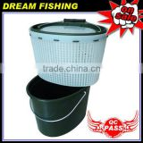 High quality square green carp fishing live bait bucket box