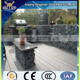 High quality Chicken wire mesh Gabion basket build stone fence wall with welded wire mesh gabion
