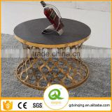 C404 Chinese Home Furniture Rose Gold Marble Coffee Table