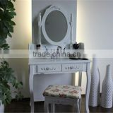 Bedroom Furniture Wooden Dreser White Color K/D Dresser With Chair Hot Sell Many Items To Choose