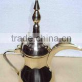 Arabian Coffee pot, Dalla pot, Brass arabian coffee pot, Gold plated arabian coffee pot, Dalla Ratlaan
