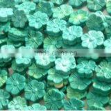 12mm green flower turquoise beads