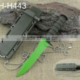 Green color high quality neck tactical knfe