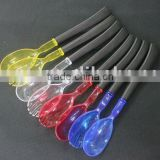 Colorful plastic salad spoon and fork set