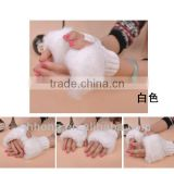 Artificial wool cute women knitted gloves/korean style/Autumn applied