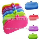 Pretty New Rubber Silicone Pouch Purse Wallet Glasses Cellphone Cosmetic Coin Bag Case
