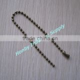 Well Cut 15CM Steel Bronze Ball Chain Key Tag