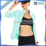 manufacturers factory price fashion beaded running jacket custom ladies jacket yoga apparel