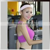 3D Printed Bamboo Lycra Sexy Hooded Sports Compression Gym Fitness Bra