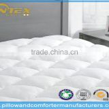 Luxury & Comfortable bamboo fabric with hypoallergenic down alternative filled Mattress Pad with Fitted Skirt