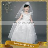 Beautiful Bride with Appliques kids Bridal wedding Dress