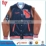 custom letterman Custom Ployester Varsity Bomber Baseball Team Softshell College for sleeves men jackets Men Leather Jacket