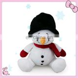 Custom design plush stuffed snowman christmas decoration toys