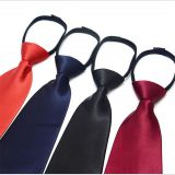 Satin Silver Polyester Woven Necktie Classic Strips Mens Suit Accessories