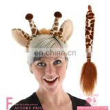 2 Pcs Plush Stuffed Animal Headband Halloween Chrisman Giraffe Ears Headband Set For Party Costume Cosplay