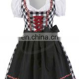 3pcs Apron Drindl Custom Design Trachten Oktoberfest Bavarian Traditional Dirndl For Women (Oktoberfest Garments)