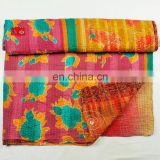 New design 2017 hot sale vintage kantha quilt low price bedspread