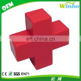 Winho Promotinal PU Foam Red Cross Shaped Stress