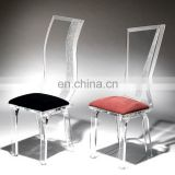 Custom design acrylic plastic high profile industrial crystal chair