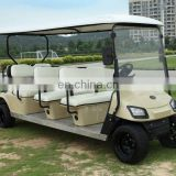 Powered 8 seater electric golf cart, tourist sightseeing bus, ce approved 8 passenger golf cart sale