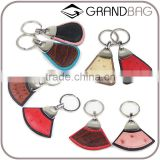 exotic skin fashion key chain special ostrich skin key ring new gift item leather key ring