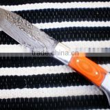 "udk h60"" custom handmade Damascus hunting knife / TANTO knife with sheet handle"