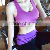 (OEM/ODM Factory)multicolor womens gym clothes quick-dry shakeproof ladies running fitness vest wireless running bra