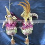 Large onion garlic hanging foot doll creative Christmas home decorations ornaments Christmas gift wedding room decorations