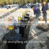 304 stainless steel for parking lot,Full automatic rising bollards used hydraulic oil with