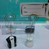 Event Party Decorations of Resin bride and groom place card holder for wedding favors and gifts