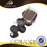 Guangzhou Supply In Good Reputation High Quality Rave Reviews Great 100 Percent Peruvian Virgin Hair Top Closure