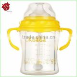 new product 2014 innovation free samples 240ml high borosilicate Glass Baby feeding Bottles BPA free baby juice feeder