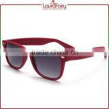 Laura Fairy Fashion Handmade Red Full Frame Wide Temple Acetate Sunglasses For Women