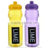 Promotion product custom color clear plastic water bottles BPA Free sport bottle PET Bottles for sales