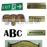 high quality acrylic door plate or acrylic door sign plate customized