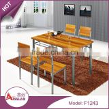 Foshan imported custom sizes cheap price rustic dinner table set no scratch 4 seater wood dining table                                                                         Quality Choice