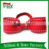wholesale high quality printed custom elastic loop gift ribbon bow for box ribbon bow gift packing