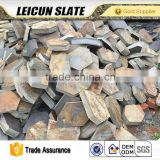 chinese natural slate culture stone paver ,factory supply slate stone interlocking paver wall stone
