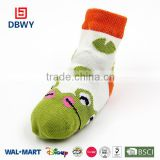 wholesale colourful fancy dolls knitted baby socks with cartoon pattern