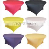 Lycra Spandex Elastic Wholesale round 200gsm weight high quality table cloth table linen napkins