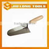 Garden tools round head carbon steel bricklaying trowel with wood handle                                                                         Quality Choice