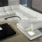 Modern Large Size U Shaped Corner Leather Sofa 9110-1