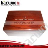 Glossy wooden watch packaging,brown wooden watch case,China factory cutom wooden watch box
